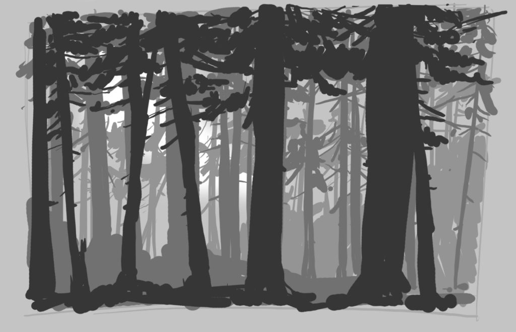 How to draw a Forest (video)